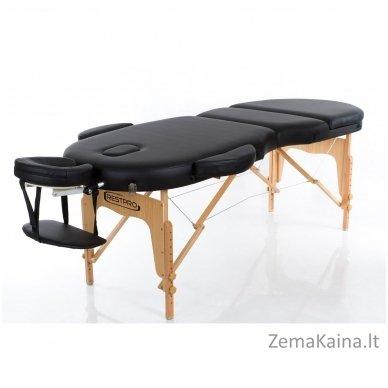Sulankstomas masažo stalas Restpro Vip Oval 3/Black 2