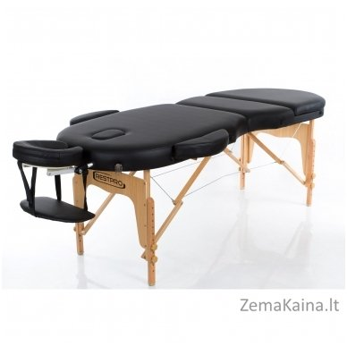 Sulankstomas masažo stalas Restpro Vip Oval 3/Black + DOVANA medvilninis užtiesalas 2
