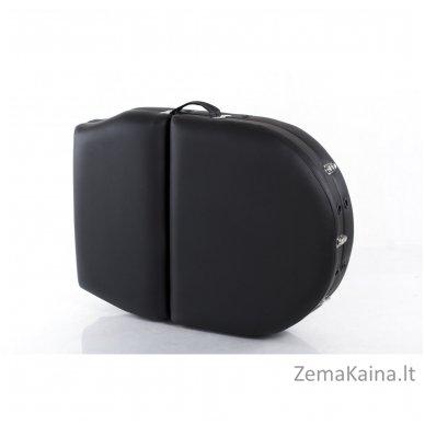 Sulankstomas masažo stalas Restpro Vip Oval 3/Black + DOVANA medvilninis užtiesalas 12