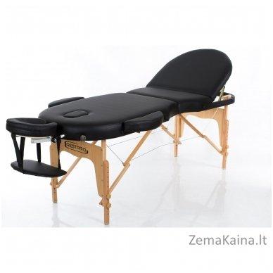 Sulankstomas masažo stalas Restpro Vip Oval 3/Black + DOVANA medvilninis užtiesalas