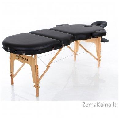 Sulankstomas masažo stalas Restpro Vip Oval 3/Black + DOVANA medvilninis užtiesalas 3