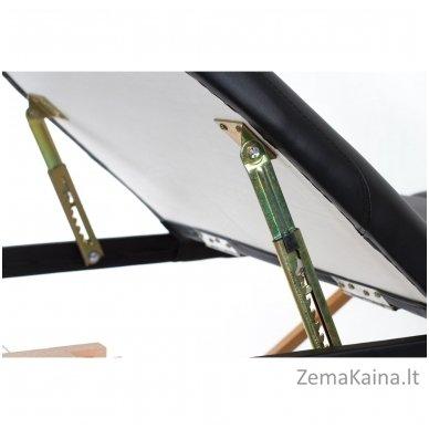 Sulankstomas masažo stalas Restpro Vip Oval 3/Black + DOVANA medvilninis užtiesalas 6