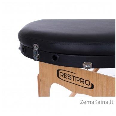 Sulankstomas masažo stalas Restpro Vip Oval 3/Black + DOVANA medvilninis užtiesalas 7