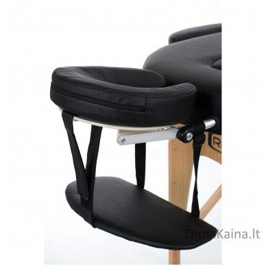 Sulankstomas masažo stalas Restpro Vip Oval 3/Black + DOVANA medvilninis užtiesalas 4