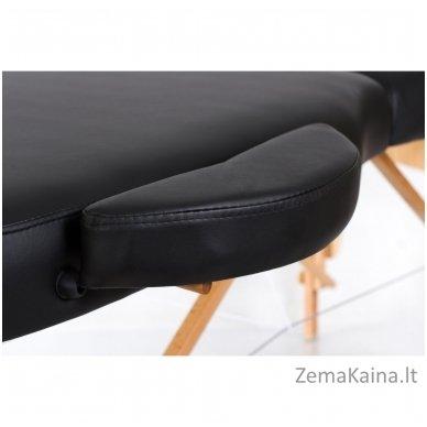 Sulankstomas masažo stalas Restpro Vip Oval 3/Black + DOVANA medvilninis užtiesalas 8
