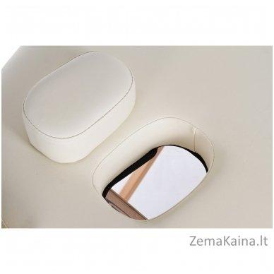 Sulankstomas masažo stalas Restpro Vip Oval 3/Cream + DOVANA medvilninis užtiesalas 5
