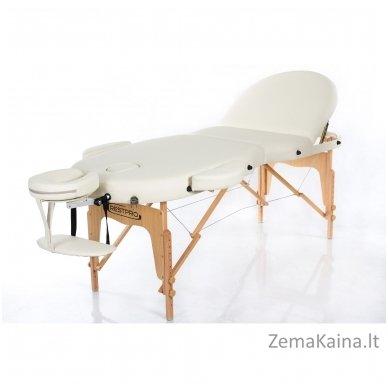 Sulankstomas masažo stalas Restpro Vip Oval 3/Cream + DOVANA medvilninis užtiesalas