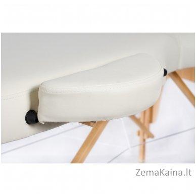 Sulankstomas masažo stalas Restpro Vip Oval 3/Cream + DOVANA medvilninis užtiesalas 8