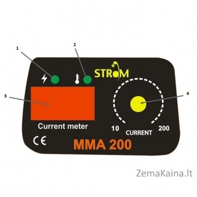 Suvirinimo inverteris STROM MMA-200 IGBT (STMMA-200) 3