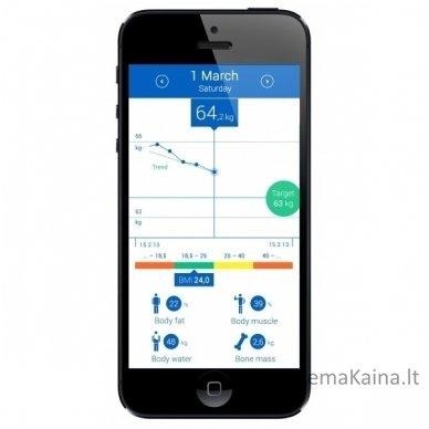 Svarstyklės - kūno masės analizatorius  Medisana BS 440 2