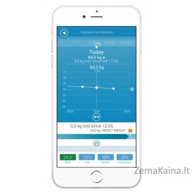 Svarstyklės Medisana BS 445 Connect Body analysis scales w/Bluetooth smart 2