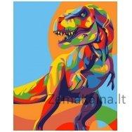 Tapymas pagal skaičius: Dinozauras (16.5x13cm T16130007)