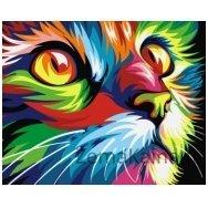 Tapymas pagal skaičius: Katinas (16.5x13 cm T16130008)