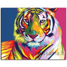 Tapymas pagal skaičius: Tigras (50x40cm GX9203)