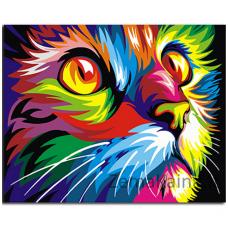 Tapymas pagal skaičius: Katė (50x40cm GX4228)