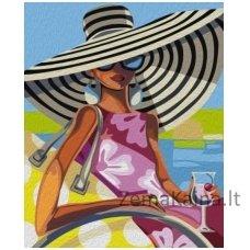 Tapymas pagal skaičius: Beach Beauty - Trish Biddle (50x40cm T50400114)