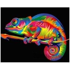 Tapymas pagal skaičius: Chameleonas (16.5x13 cm T16130033)