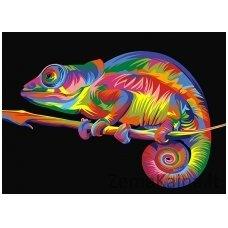 Tapymas pagal skaičius: Chameleonas (A4 29,7x21cm TA40114)
