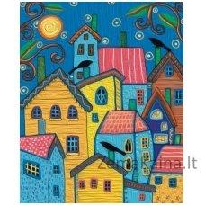 Tapymas pagal skaičius: Fairytale houses - Karla Gerard (50x40cm T50400112)
