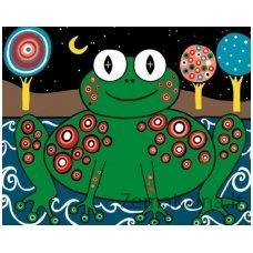 Tapymas pagal skaičius: Frog (varlė) - Karla Gerar (16.5x13 cm T16130004)