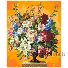 Tapymas pagal skaičius: Gėlės (50x40cm T50400044)