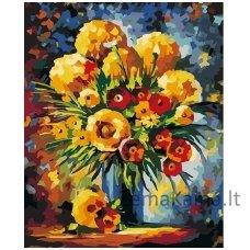 Tapymas pagal skaičius: Gėlės (50x40cm T50400105)