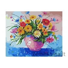 Tapymas pagal skaičius Gėlės B043