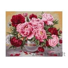 Tapymas pagal skaičius Gėlės B057