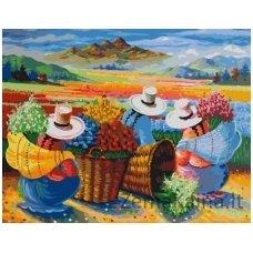 Tapymas pagal skaičius: Gėlės iš Peru (50x40cm T40500068)