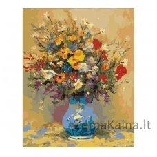 Tapymas pagal skaičius: Gėlių puokštė (50x40cm T50400011)