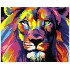 Tapymas pagal skaičius: Liūtas (16.5x13 cm T16130001)