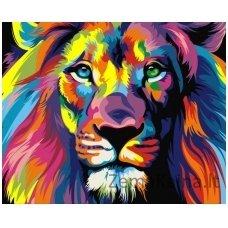Tapymas pagal skaičius: Liūtas (50x40cm T40502001)