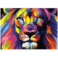 Tapymas pagal skaičius: Liūtas (A4 29,7x21cm TA40106)
