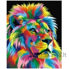 Tapymas pagal skaičius: Liūtas karalius (50x40cm T50400005)