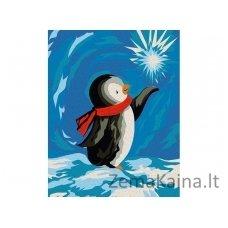 Tapymas pagal skaičius: Pingvinas (16.5x13 cm T16130054)