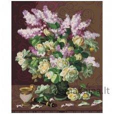 Tapymas pagal skaičius: Rožės (50x40 cm T50402111)