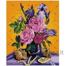 Tapymas pagal skaičius: Rožių puokštė (50x40cm T50400042)