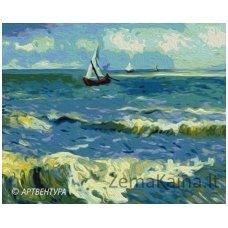 Tapymas pagal skaičius: Sea Landscape - Van Gogh (50x40cm T40500168)