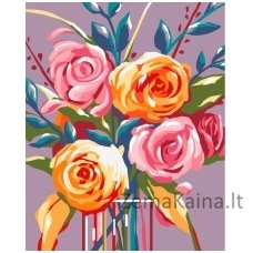 Tapymas pagal skaičius: Švelnios rožės (16.5x13 cm T16130028)