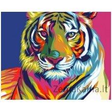 Tapymas pagal skaičius: Tigras (16.5x13 cm T16130010)
