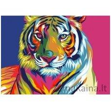 Tapymas pagal skaičius: Tigras (A4 29,7x21cm TA40110)