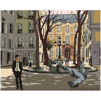 Tapymas pagal skaičius: Paryžiaus gatvė (50x40cm T40500039)