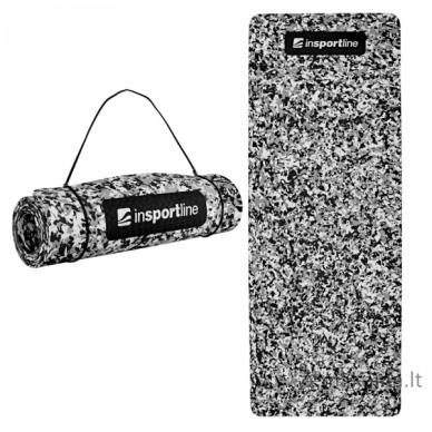 Treniruočių kilimėlis inSPORTline Camu Grey 173x61x0.8cm