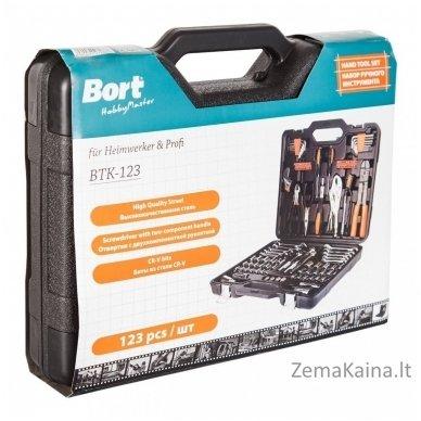 Universalus raktų komplektas BORT BTK-123 4