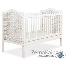 Vaikiška lovytė Wicker Baby cot 120x60cm