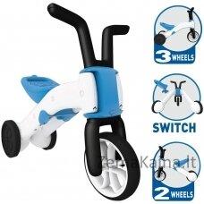 Vaikiškas balansinis dviratukas - triratukas 2in1 (iki 25kg) Chillafish Bunzi Blue