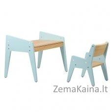 Vaikiškas stalas ir kėdė FunDesk Omino Blue