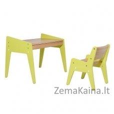 Vaikiškas stalas ir kėdė FunDesk Omino Green