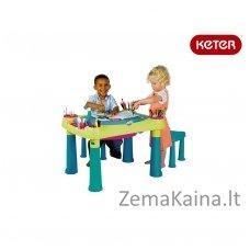 Vaikiškas staliukas su 2 kėdutėmis Creative play