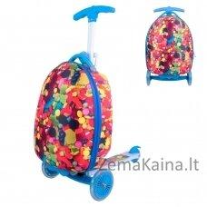 Vaikiškas sulankstomas paspirtukas su lagaminu Worker Lagy - Candy